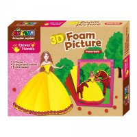 Набор для творчества Avenir Clever Hands 3D Form Picture Princess, TM Bino