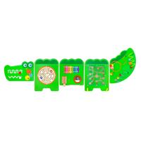 Бізіборд Крокодил, 5 секцій, Viga Toys