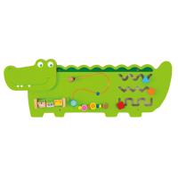 """Настенная игрушка бизиборд """"Крокодил"""", Viga Toys"""