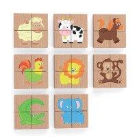 Магнитный пазл Животные 32 эл., TM Viga Toys