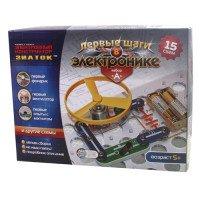 """Интерактивная игрушка Знаток """"Первые шаги в электронике"""" (15 схем, набор А), (REW-K060)"""