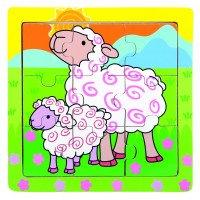Пазл - Вівця, 9 дет., Bino