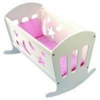 Детская колыбель (кроватка) с постелью, для кукол, Bino