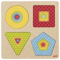 Пазл багатошаровий - Геометричні фігури, Goki