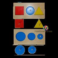 Геометрические пазлы: круг/ треугольник/ квадрат
