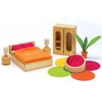 """Набор деревянной кукольной мебели из бамбука """"Lifestyle Bedroom"""" Спальня Hape"""