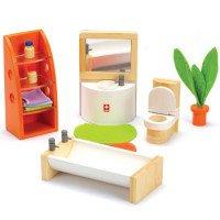 """Набор деревянной кукольной мебели из бамбука """"Lifestyle Bathroom"""" Ванная комната Hape"""