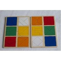 Деревянные планшеты Сложи квадрат Никитиных 2-й уровень Lam Toys