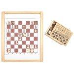 Дерев'яна ігрова панель шахи і шашки, Lam Toys
