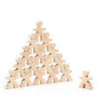 """Дерев'яний конструктор """"Маленькі чоловічки"""", (15 деталей),  Lam Toys"""