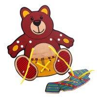Шнуровки. Медвежонок, LAM Toys