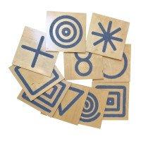 "Комплект тактильних панелей ""Фігури"", 10 деталей,  Lam Toys"