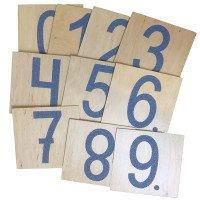 """Комплект тактильних панелей """"Цифри"""", 10 деталей, Lam Toys"""