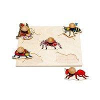 Рамка-вкладиші Комахи 5 деталей,  Lam Toys
