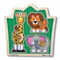 """Формовой пазл """"Друзья из джунглей"""", Melissa&Doug"""