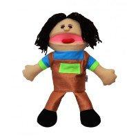 Лялька-рукавичка Puppets з язиком, хлопчик у коричневому комбінезоні, 1 шт., ДивоГра