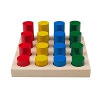 """Игра - сортер """"Цветные цилиндры"""", KOMAROVTOYS"""