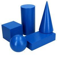 Геометрические тела (фигуры),набор 5шт, 60мм KOMAROVTOYS