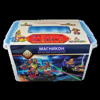 3-D магнитный конструктор МАГНІКОН, 198 дет.,ТМ Магникон