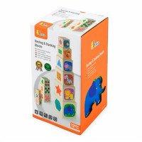 Дерев'яні кубики-пірамідка з цифрами, Viga Toys