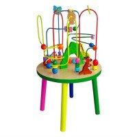 Дерев'яний ігровий центр Столик із лабіринтом, Viga Toys